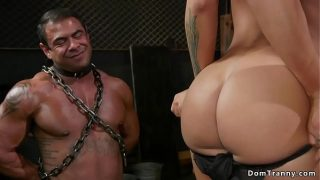 Hot shemale dom anal fucks muscled guy