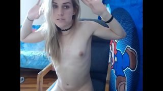 stunning katie playing with her dick