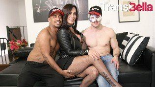 Trans Bella – Rough Anal Fucking With Kinky Tranny And Two Lucky Guys